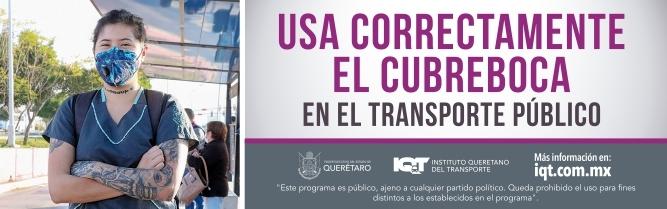 USA CORRECTAMENTE EL CUBREBOCAS